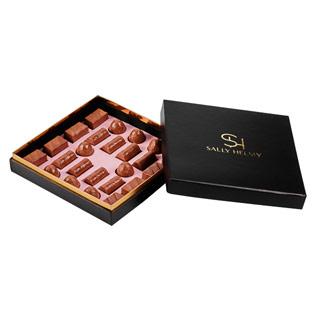 24 قطعة من شوكولاتة الحليب البلجيكي في علبة سوداء-سالي حلمي - مصر